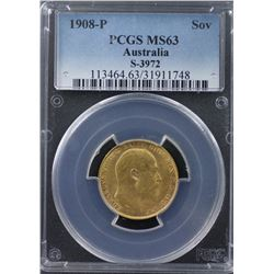 1908-P Sovereign PCGS MS63
