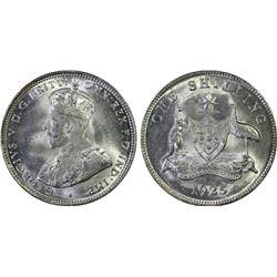 1925/3 Shilling PCGS MS64+