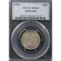 1954 Shilling PCGS MS64