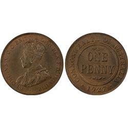 1927(m) Penny PCGS MS63BN