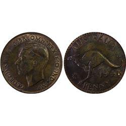 1946(m) Penny PCGS MS63BN