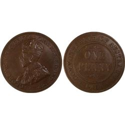 1914 Penny PCGS AU55
