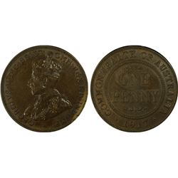 1917-I Penny PCGS AU55