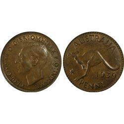 1939(m) Penny PCGS MS63BN