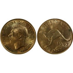 1947(m) Penny PCGS MS64RB