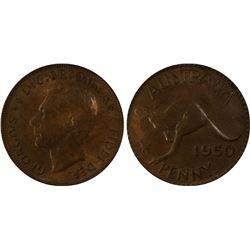 1950 P Penny PCGS AU 58
