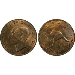 1951-PL Penny PCGS MS64RB