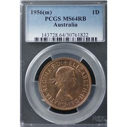 1956(m) Penny PCGS MS64RB