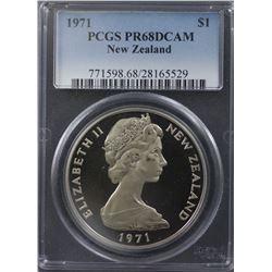 NZ 1971 $1 PCGS PR 68 Scarce Date