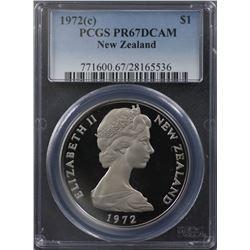 NZ 1972 $1 PCGS PR 67