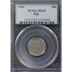 Fiji Sixpence 1965 PCGS MS 65