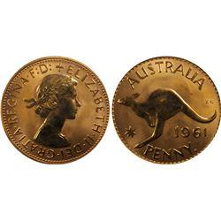 Australia 1961 Perth Proof Penny & Halfpenny