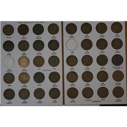 Complete Set Pennies 1911 to 1964 (no 1930) New Dansco album
