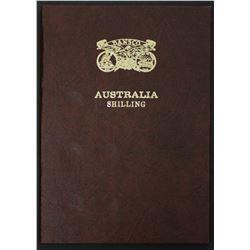Set of Australian Shillings 1910 to 1963 in new Dansco album