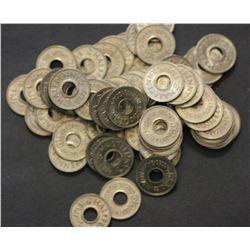 Fiji 1954 Halfpennies, ex Mint bag of 200 coins