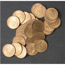 Cyprus 3 Mils 1955 Ex Mint Bag 250 Coins all BU