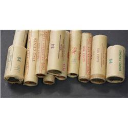 1c Rolls 1975,1976,1977,1980,1981, 2c 1981, 5c 1980, 10c 1978,80, 20c 1980,81