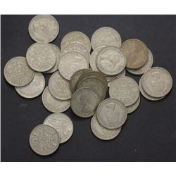 GB Florins 1946 to 1967 VF to Unc (110 Coins)