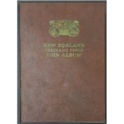 New Zealand Complete set 3 Pence & Sixpence including 35 3d