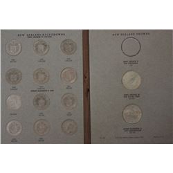 NZ Complete Set ½ Crowns & Crowns 1933 to 1965