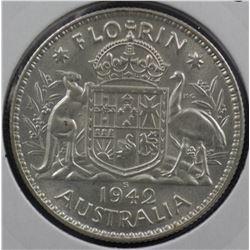1942s Florin Unc