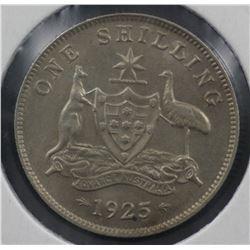 1925 Shilling aUnc/Unc