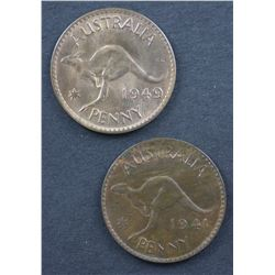 1941 & 1949 Pennies Choice Unc