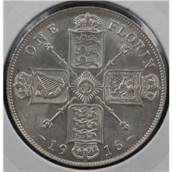 GB 1916 Florin Uncircyulated