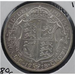 GB 1918 ½ Crown Uncirculated