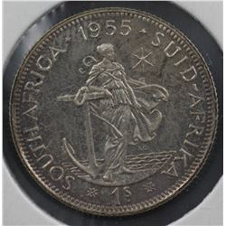 South Africa Shilling 1955 Proof