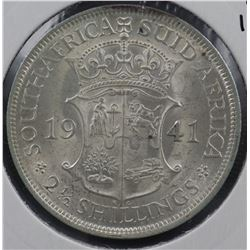 South Africa ½ Crown 1941 Uncirculated