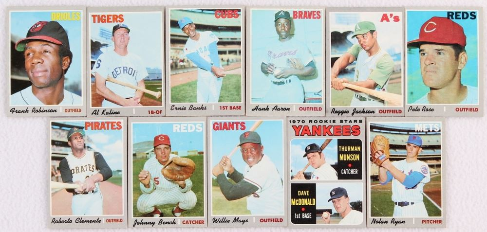 1970 Topps Baseball Set Of 720 Cards In Binder With Pete