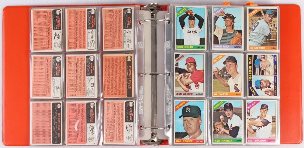 Lot Of 293 1966 Topps Baseball Cards With Willie Mays Pete Rose