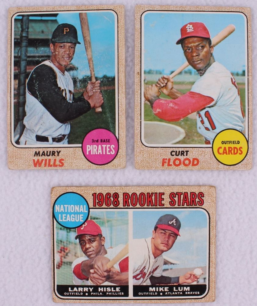Lot Of 100 1968 Topps Baseball Cards With 175 Maury Wills 180