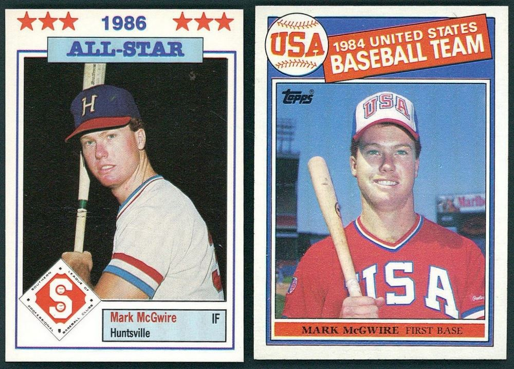 Lot Of 2 Mark Mcgwire Baseball Cards Including 1985 Topps 401