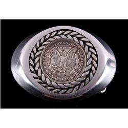 Morgan Silver Dollar Belt Buckle