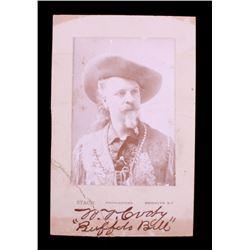 Antique Buffalo Bill Cabinet Card Photograph