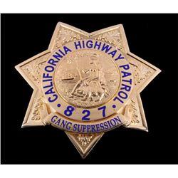 California Highway Patrol Gang Suppression Badge