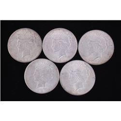Liberty Peace Silver Dollars (5) 1922-1925