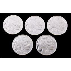 Indian Head Buffalo .999 Silver Coins (5 Troy Oz)