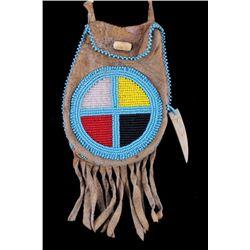 Lakota Sioux Medicine Wheel Pouch circa 1900-1930