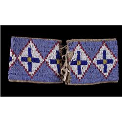 Lakota Sioux Beaded Cuffs from Otto Ernst ca 1890