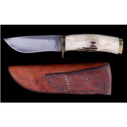 R.J. Jolley Elk Horn Knife Livingston, Montana