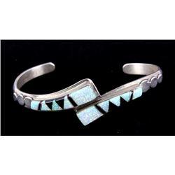 Navajo Opal & Jet Sterling Bracelet