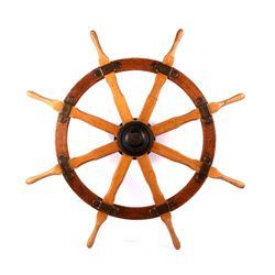 Sailing Yacht Ship Wheel circa 19th century