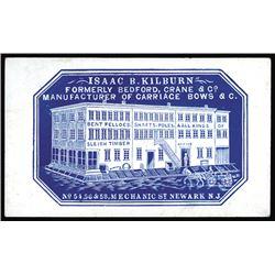 Isaac B. Kilburn. Carriage Bows. Cameo Business Card, ca.1860-70's