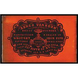 Abner Van Horn. Brass Founder. Cameo Business Card, ca.1860-70's