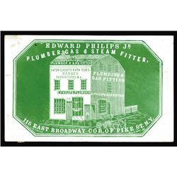 Edward Philips Jr., Cameo Business Card, ca.1860-70's