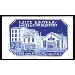 Price Brothers. House & Sign Painters. Cameo Business Card, ca.1860-70's