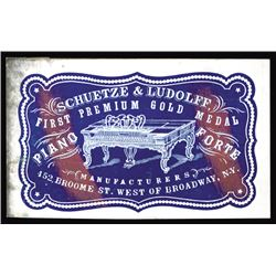 Schuetz & Ludolff, Piano Forte, Cameo Business Card, ca.1860-70's